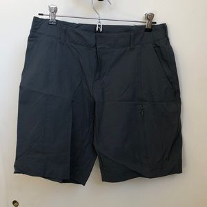 Loose fitted hiking shorts.